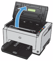 Image: Open the print cartridge door.