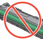 Image: Do not touch the imaging drum roller.