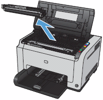 Image: Remove a print cartridge.